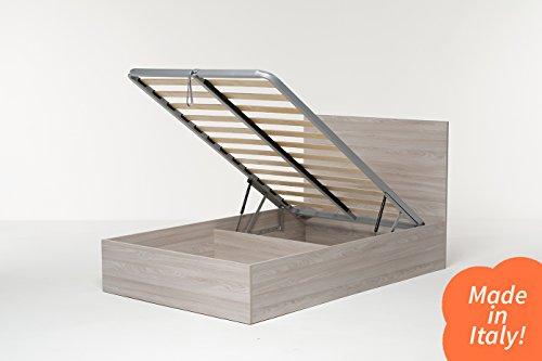 Cang Hi Box Letto Contenitore Naturale 120 x 190 cm derivato del legno