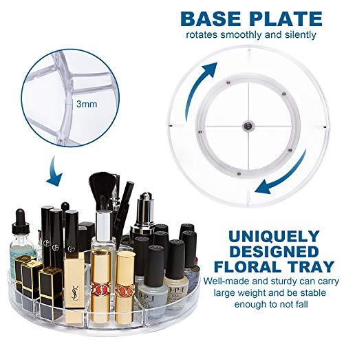 CECOLIC espositore cosmetico Girevole da 360 GradiTrucco Organizzatore 12 strati di stoccaggio cosmetico acrilico adatto per gioielli pennelli per trucco rossetti e altro