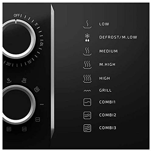 Cecotec  Microonde con grill ProClean 3150 capacit di 20 l rivestimento Ready2Clean 700 W di potenza 6 livelli di funzionamento timer 30 min modalit scongelamento finitura nera e argento