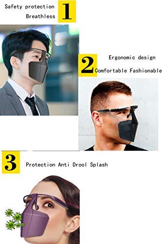 Chiefstore copertura di sicurezza per il viso riutilizzabile antisputamento antisbavature antischizzi per viso S hield