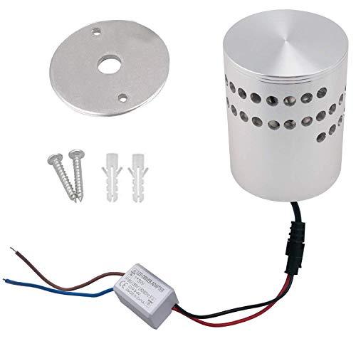Coocnh Lampada da Parete in Alluminio Applique da Parete 3W LED Parete Moderna Faretti Lampada Da Muro Effetto Lampada del Corridoio Bagno Apparecchio Bianco Caldo