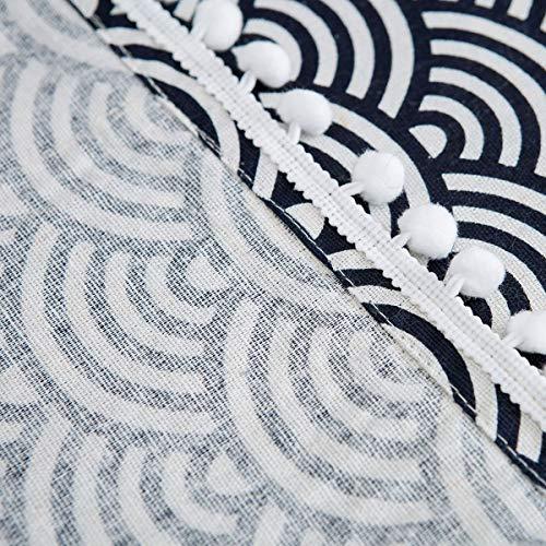 Copertura antipolvere per frigoriferoCopertura per Lavatrice Copertura Superiore per Lavatricemultiuso in cotone e lino con tasche laterali Antipolvere55 X 130cm216  51 PolliciBlu