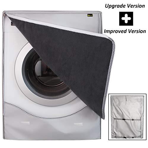 Copertura Lavatrice per Esterno per Le lavatrici  Asciugatrice Coprilavatrice di Spessore Migliore Performance di Crema Solare Antiultravioletti Impermeabile AntipolvereCamoscioXL