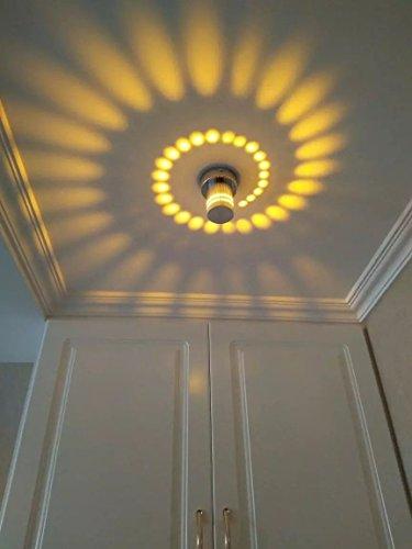 Corridoio Luce a soffitto a LED Luci a portico Decorative Lampadine Effetto Luce Creativa Soffitto Luci da parete per Bagno Ristorante Salotto Scale Entrata Superficie Instalado Giallo