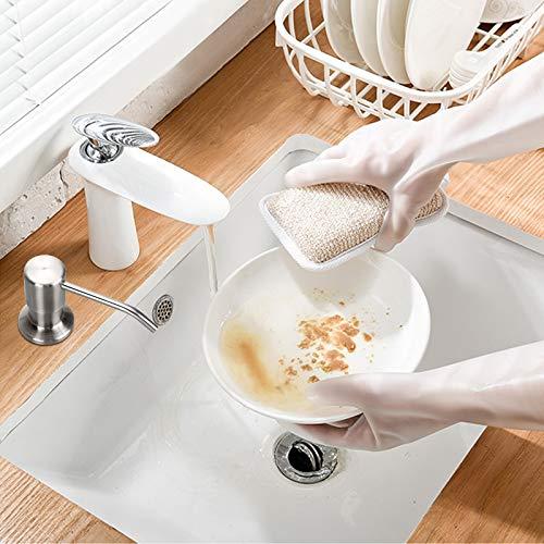 Dispenser di Sapone per Pompa da Appoggio in Nichel Spazzolato Lavello da Cucina con Tubo in Silicone 47