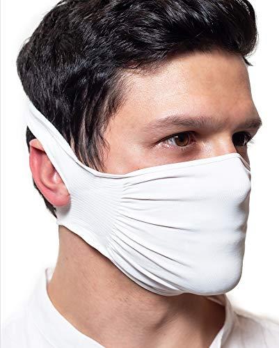 DrWalt 5 X Fascia Protettiva naso e bocca Antracite Idrorepellente Batteriostatica in poliammide lavabile e riutilizzabile confezione da 5 Antracite