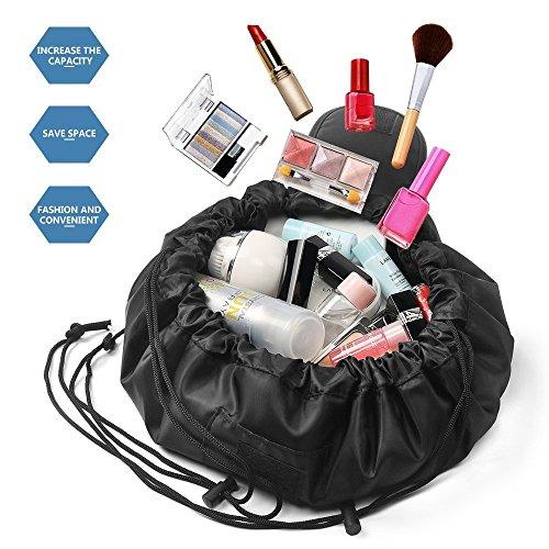 Ducomi NYC 360  Borsa Trucco Professionale Donna con Apertura Completa Semplice e Veloce  Beauty OrganizzatoreTrousse Cosmetici Impermeabile da Viaggio per Make up Gioielli e Medicinali Beige