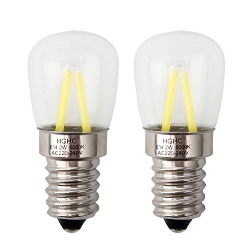 E14 lampadina frigo lampadina filamento HGHC 2W 25W alogena lampadina equivalente Bianco diurno 6000KAC220240V confezione da 2 unit