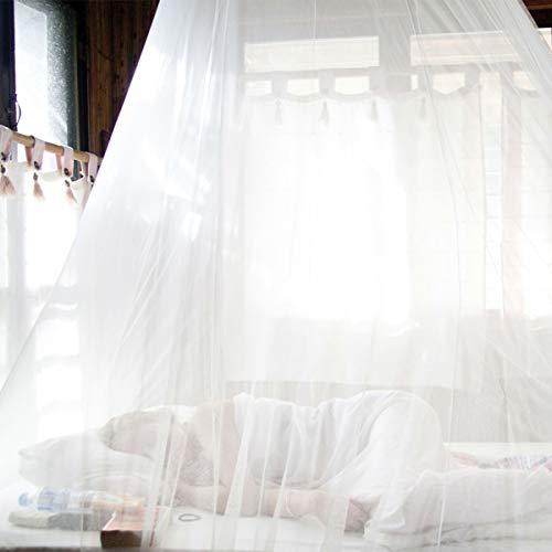 EXTSUD Zanzariera a Tenda per Letto Rete Antizanzare Reti da Letto Zanzariera Bianca Universale a Cupola per Letto Matrimoniale Singolo Tende Zanzariere a Baldacchino per Tutti Tipi di Letto