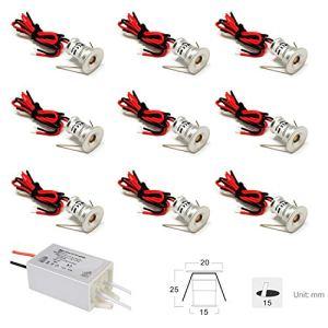 Faretto LED piccolo 9PCS 12V 1W da incasso luce cella per cucina scale armadio corridoio illuminazione fai da te Vetrina luce da incasso da incasso IP65 CE ROHS bianco 30