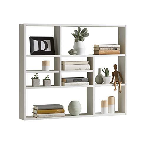 Fashion Home Liberty A11 Libreria a Muro truciolare Bianco 782 x 90 x 16 cm