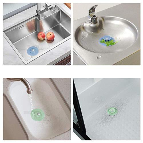 FUNNY HOUSE 5 Pezzi Tappo per Vasca da Bagno Universale Tappo per lavello da Lavandino Bagno in Silicone Tappi di Aspirazione per Lavabo per Cucine Bagni