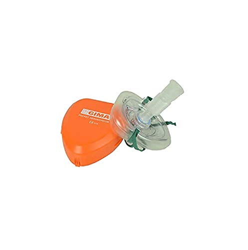 GIMA  Pocket Mask Maschera di Rianimazione per Respirazione Bocca a Bocca CPR Mask Resuscitator