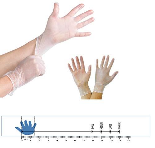 Guanti grandi per uso medico in vinile trasparente di buona qualit privi di talco privi di lattice comodi da indossare 100 pezzi