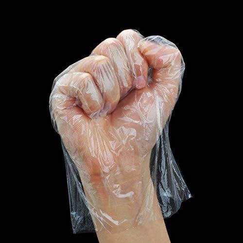 Guanti in plastica trasparente monouso 400 pezzi  Guanto impermeabile trasparente monouso HUDDU in polietilene monouso per la pulizia la pulizia e la manipolazione degli alimenti