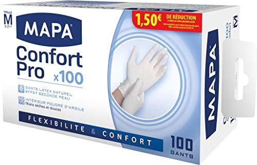 Guanti Mapa Latex Confort Pro Confezione da 100 guanti Taglia 7  M