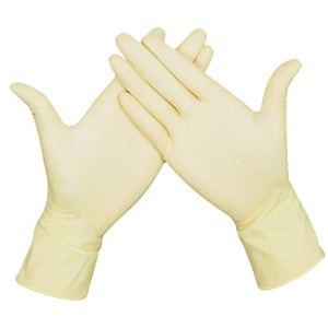 Guanti monouso Lattice lattiginoso e senza polvere per la lavorazione degli alimenti Pulizia domestica Uso Giardinaggio Confezione da 20 pezzi 10 paiaM