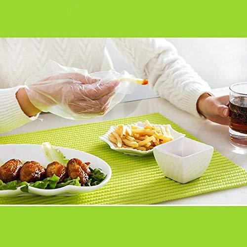 Guanti usa e getta 200 guanti in plastica per alimenti usa e getta per manipolazioni alimentari trasparenti per la cucina la pulizia di sicurezza degli alimenti