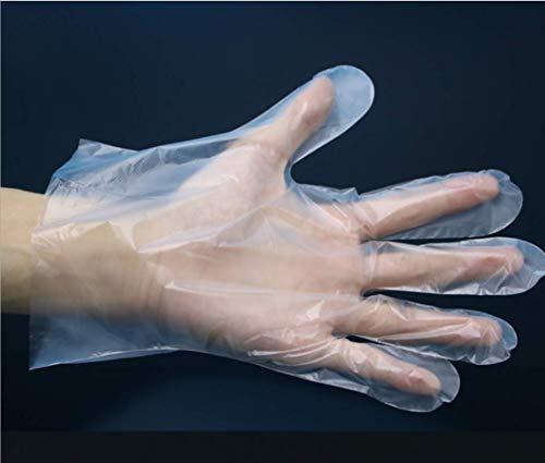 Guanti usa e getta usa e getta in plastica 200 pezzi per uso alimentare trasparenti taglia unica