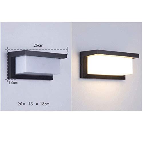 HAOFU applique moderna 10W 3000K 1000LM IP65 applique in alluminio impermeabile per camera da letto soggiorno sala da pranzo corridoio luce calda nero
