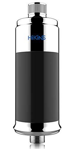 HiKiNS Filtro per Doccia a 15 Fasi ammorbidente per Proteggere i Capelli e la Pelle pi sani filtra efficacemente Il Cloro in Metallo Pesante Adatto per Qualsiasi soffione Doccia