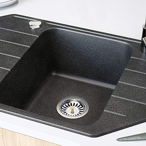 HOMPO 2 Pcs Acciaio Inox Filtro Lavello Tappo Lavandino Cucina Per Lavello Della Cucina Lavandino Cucina Filtro Lavello Per Uso Manuale Con Cestello Filtrante Diametro 80 mm 2 Pcs