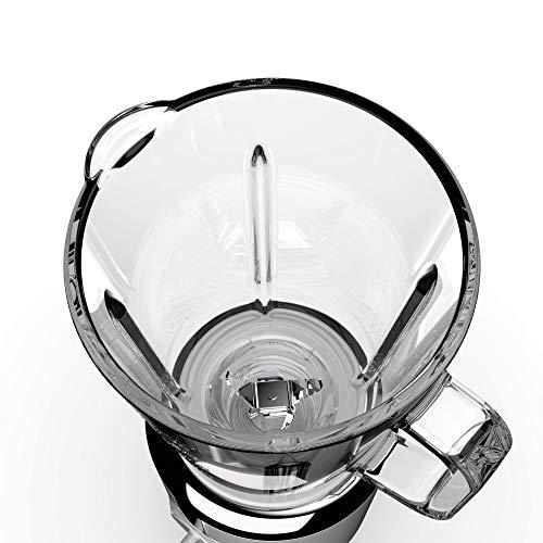 Imetec BL4 500 Frullatore Lame tritaghiaccio in acciaio inox Bicchiere da 800 ml in vetro 2 velocit con Pulse Coperchio dosa liquidi 300 W fino a 21000 girimin