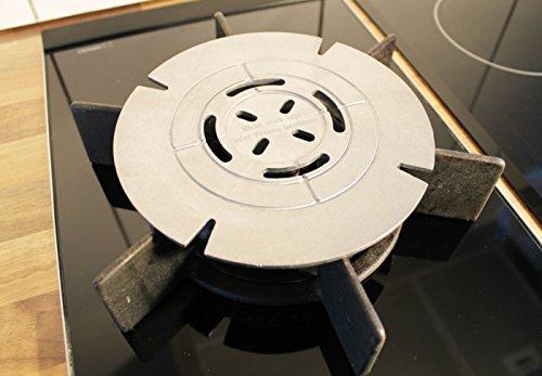 JOSKO Produkte 8101 Riduttore per fornello a Gas in Alluminio pressofuso per la casa Il Campeggio e per Mantenere al Caldo Le pietanze Diametro 18 cm