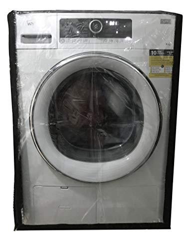 KHOMO GEAR Coprilavatrice da Esterno Copertura Impermeabile Nera per Lavatrice e Asciugatrice di Carica Frontale  Nero e Trasparente