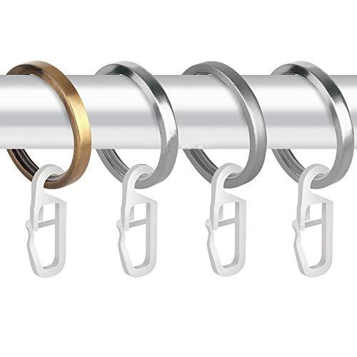KINDPMA 25pcs Ganci per Tende con Occhiello da 6MM Alta Qualit Ganci per Tende Plastica per Tende Tende da Letto Zanzariere Tende da Doccia