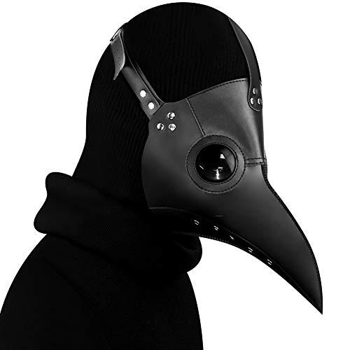 Kungfu Mall  Maschera da medico della peste in stile gotico travestimento cosplay in stile steampunk maschera da uccello copertura dark per feste di Halloween corredata di guanti