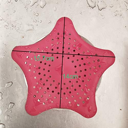 Laimew 4pz Filtro Raccogli Capelli in silicone Con Ventose per Lavandino