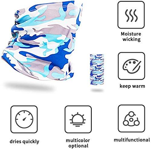 Lemcrvas 4 pezzi maschera rinfrescante viso protezione UV ciclismo collo ghette raffreddamento Sunblock viso sciarpa senza cuciture antipolvere antivento