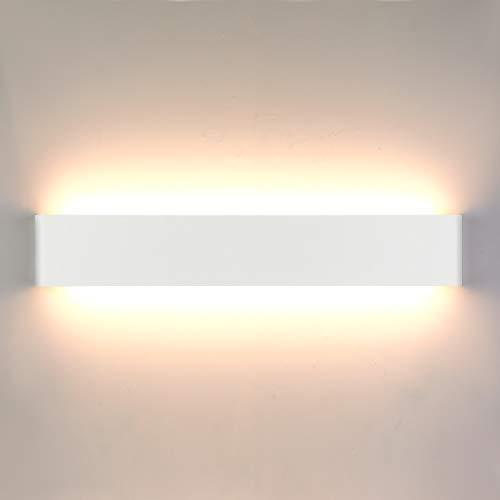 Lightess 20W 50 CM Applique da Parete Interno Moderno Lampada da Parete Interni Lampada a Muro per Soggiorno Camera da Letto Scale Corridoio Portico Scale Luce Bianco Caldo 3000K