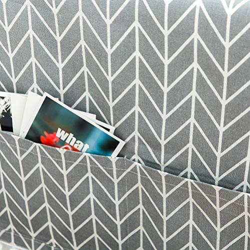 LIOOBO Coprilavatrice Copertura Frigorifero Universale con Tasche portaoggetti da Appendere 55x130cm Freccia Grigia