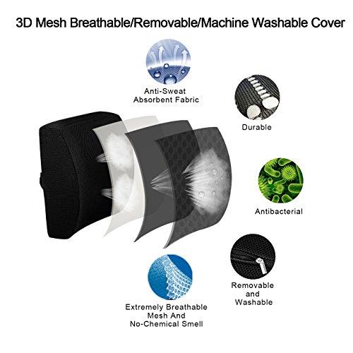 LoveHome Cuscino Lombare per Auto 3D Cuscino Supporto Lombare da Memory Foam  Progettato per il Rilievo del Dolore al Petto Inferiore  Cuscino Lombare per Sedia Ufficio Sedie a Rotelle Auto Casa