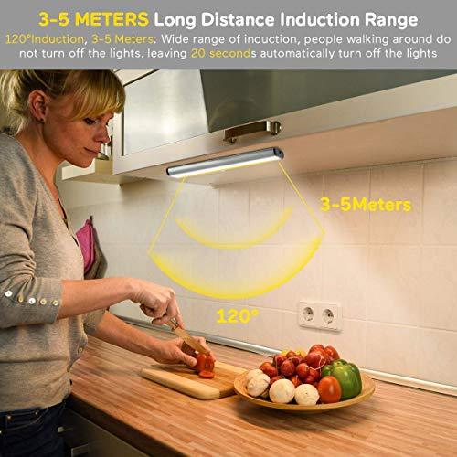 Luce per Armadio con SensoreLampada Armadio con Sensore Luce e di Movimento Alimentata a Batterie Luce Notte per ArmadioComodinoCorridoio