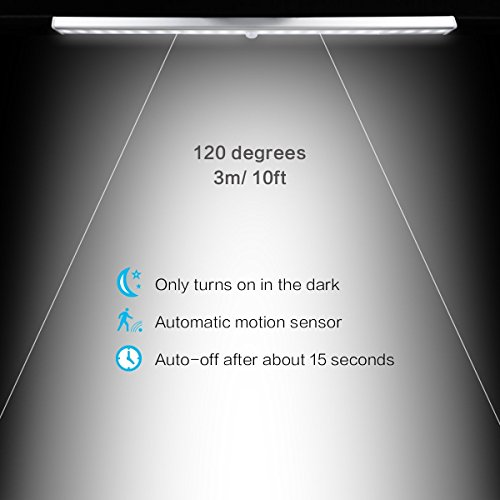 Luce Sensore di MovimentoEMIUP 24 Luce LED USB RicaricabileAutoOnOff 3 Modalit di Commutazione Luce per ArmadioComodinoCorridoio24 LED