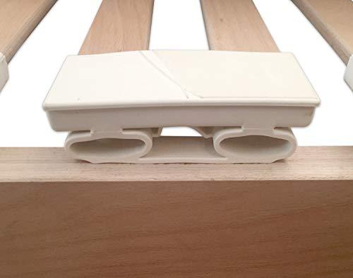 Marcapiuma  Rete a Doghe Manuale Singola 80x190 Alta 35 cm Modello SA in Legno di Faggio Naturale resinato e Multistrato  4 Piedi Legno massello di Faggio  Ortopedica  100 Made in Italy