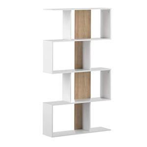 Marchio Amazon Movian Ercina  Libreria 89 x 25 x 165 cm L x P x A colore bianco e quercia