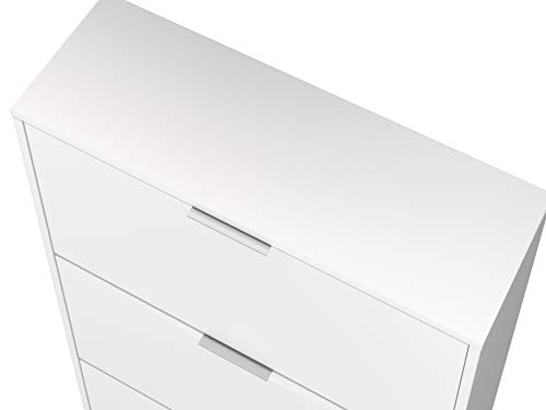 Marchio Amazon Movian scarpiera a 3 sportelli in stile moderno modello Inari 25 x 75 x 128 cm colore bianco