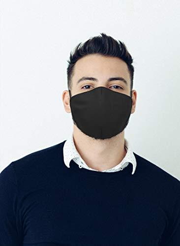 Mascherina nera in tessuto lavabile 100 Made in Tuscany Misure uomo donna e bambino Uomo