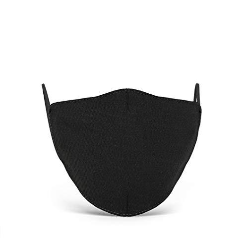 Mascherina nera in tessuto lavabile 100 Made in Tuscany Misure uomo donna e bambino Donna