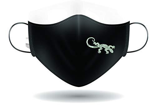 Mascherina per Viso con elastici lavabile e sterilizzabile Unisex Made in Italy GEKO