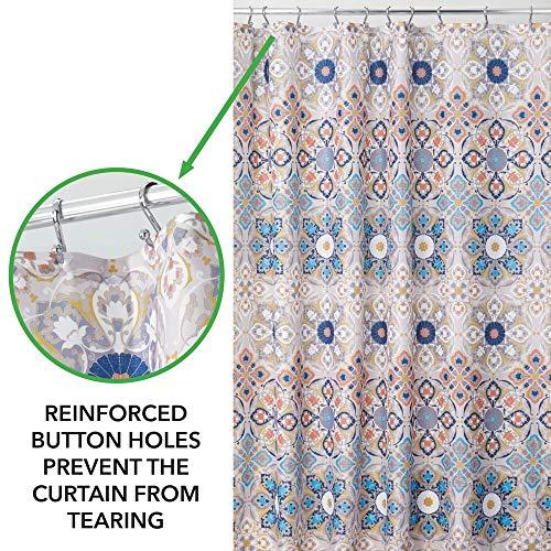 mDesign Tenda per Doccia Antimuffa con motivo orientale  Ideale Accessorio da Bagno  183 cm x 183 cm