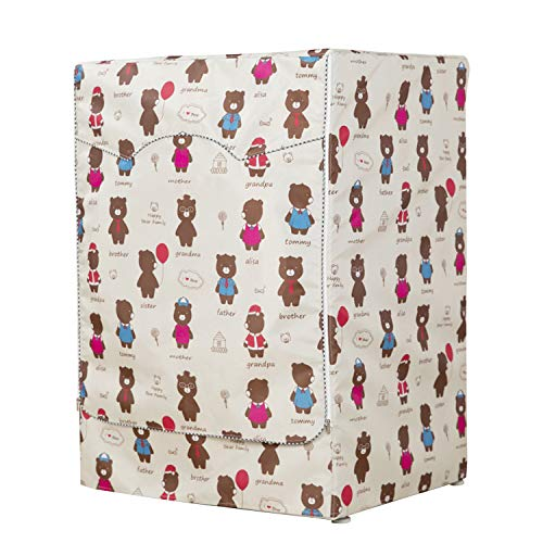 Mr You Copertura Lavatrice per EsternoCopertura Impermeabile per Lavatrice e Asciugatrice di Carica Frontale Bear 60 x 64 x 85 cm