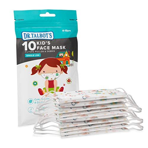 Nuby Mascherina per il viso con disegni per bambina 10 pezzi