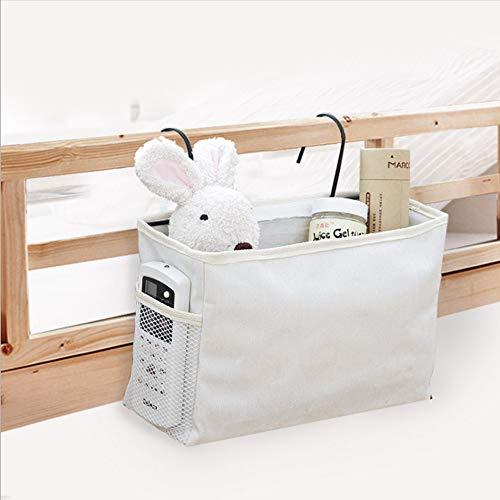 NFtop Borsa portaoggetti da comodino per testiera del dormitorio da appendere colore: Nero per letti a castello