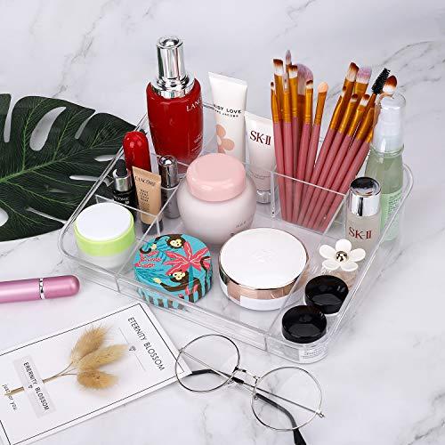 Organizzatore di Trucco di immagazzinaggio Espositore Vetrina Vassoio Cosmetico Contenitori per Cosmetici Trasparente per vanit Scaffale da Bagno da Bancone Porta Trucchi Organizer