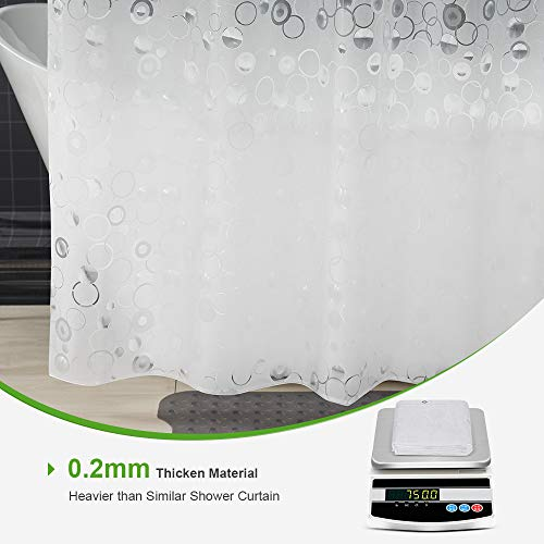 OTraki Tenda da Doccia 200x200 Antimuffa 3D Frosted Traslucido Tenda da Bagno Impermeabile in Eva Lavabile Tende da Vasca da Bagno con Ganci